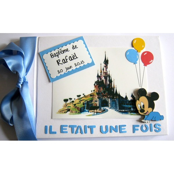 Livre d'or Mickey chateau Disney